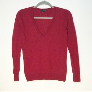 The Limited Red V-Neck Pullover Sweater Size Small